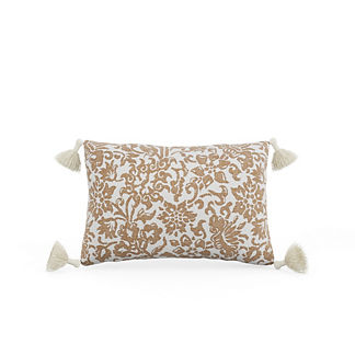 Alejandra Floral Tasseled Lumbar Indoor/Outdoor Pillow