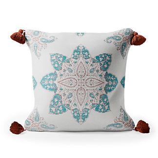Monserrat Medallion Tasseled Square Indoor/Outdoor Pillow