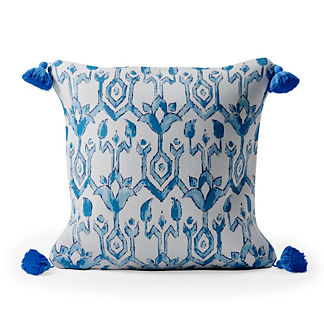 Madura Trellis Tasseled Square Indoor/Outdoor Pillow