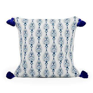 Paz Paisley Tasseled Square Indoor/Outdoor Pillow