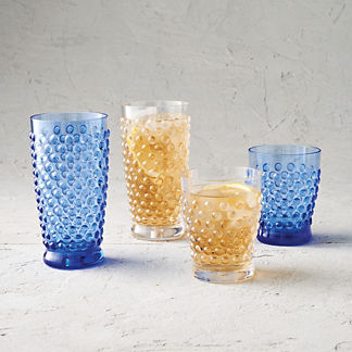 Porter Hobnail Acrylic Drinkware, Set of Six