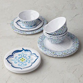 Seville Tile Melamine 12-piece Dinnerware Set