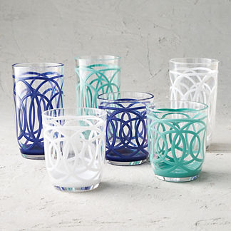 Cabo Acrylic Drinkware, Set of Six