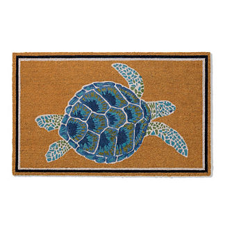 Majestic Sea Turtle Door Mat