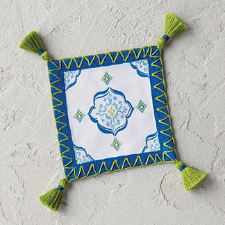 Seville Tile Cocktail Napkins, Set of Four