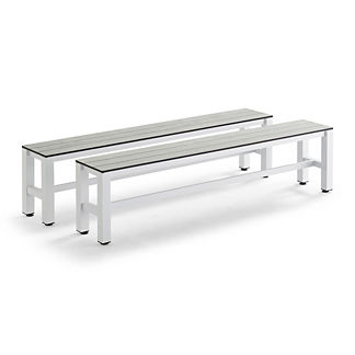 Esterno Outdoor Pool Table Benches, Set of Two