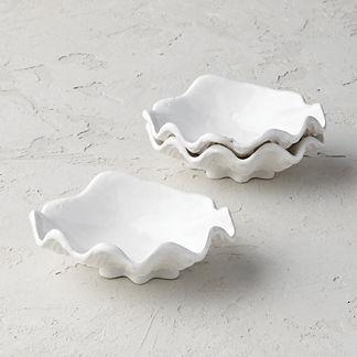 Oyster Shell Dip Bowls, Set of Three