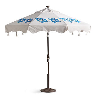 Mariella Porcelain Vine Handpainted Umbrella