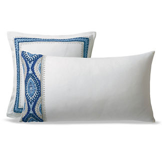Ayla Embroidered Sham in Blue