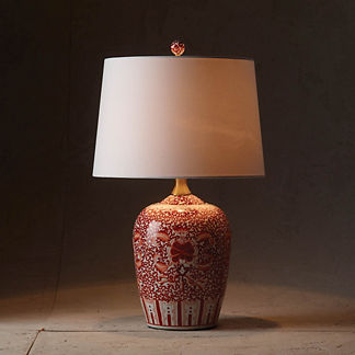 Coral Ming Temple Jar Table Lamp