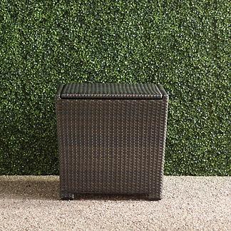 Tapered Wicker Storage Cube