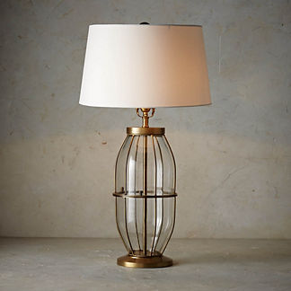 Montauk Cylindrical Glass Table Lamp