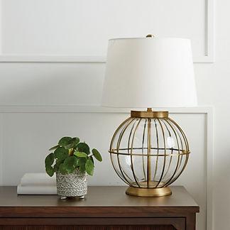Montauk Spherical Glass Table Lamp