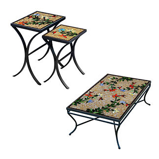 KNF Caramel Hummingbird Nesting Tables, Set of Two