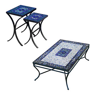 KNF Seafoam Atlas Nesting Tables, Set of Two