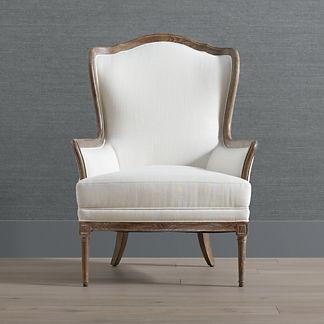 Quinn Wingback Chair in Bourbon Finish