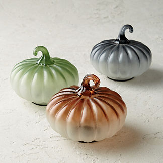 Frosted Ombre Glass Pumpkin