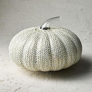 Mosaic Herringbone Glass Pumpkin