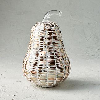 Mosaic Woven Glass Pumpkin