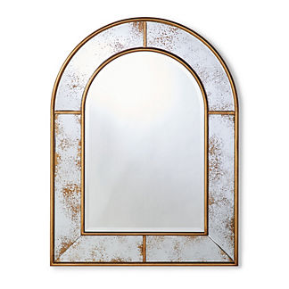 Pelham Arched Antiqued Wall Mirror