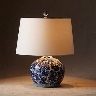Blue Ming Ball Table Lamp