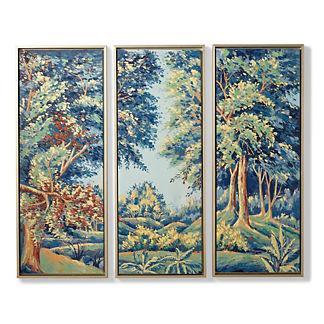 Manoir Indigo Giclee Triptych