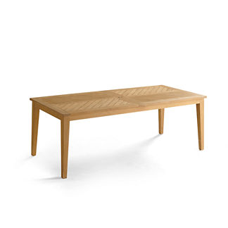 Chevron Teak Dining Table Tailored Furniture Cover