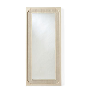 Marion French Cane Floor Mirror