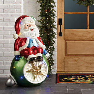 LED Santa on Ornament