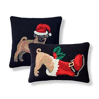 Naughty Pug Indoor/Outdoor Pillow