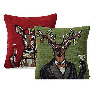 Mr. & Ms. Deer Indoor/Outdoor Pillows
