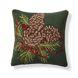 Pine Cone Bow Indoor/Outdoor Pillow