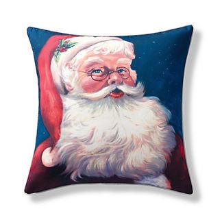Vintage Santa Indoor/Outdoor Pillow Cover
