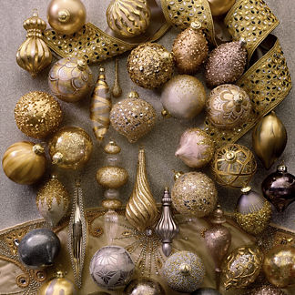 Gilded Radiance 60-piece Ornament Collection