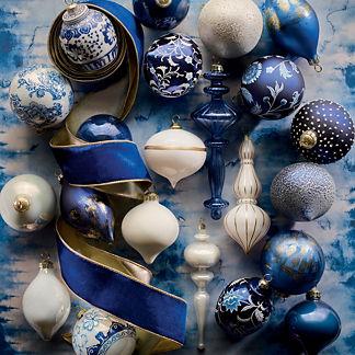 Noel Bleu 40-piece Ornament Collection