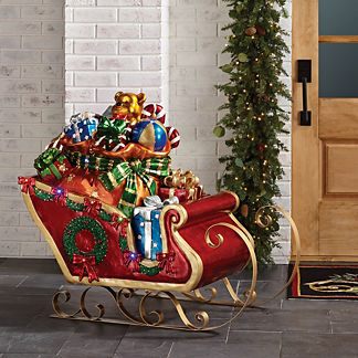 LED Sleigh with Toys