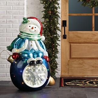 LED Snowman on Ornament