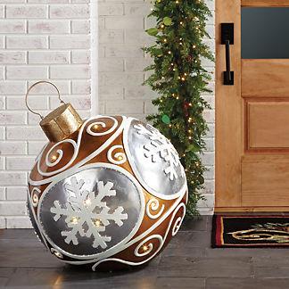 LED Snowflake Yard Ornament