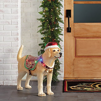 LED Motion-activated Yellow Labrador