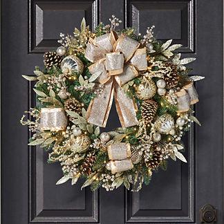 Gilded Elegance Wreath