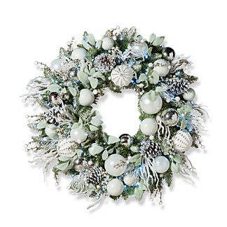 Frosted Nights Outdoor Wreath