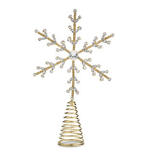 Gilded Snowflake Tree Topper