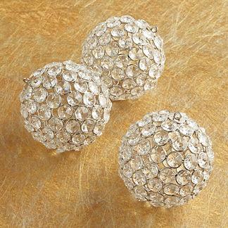 Three-piece Gold Faceted Gem Ornament Set