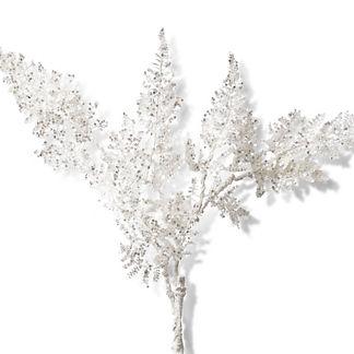 Glitter Fern Branch, Set of Six