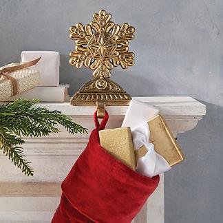 Decorative Snowflake Stocking Holder