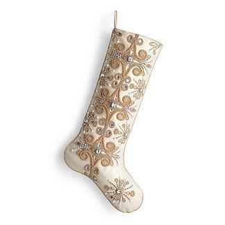Starburst Embellished Stocking