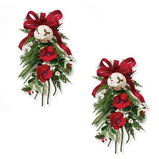 Yuletide Wonder Chairback Swags, Set of Two