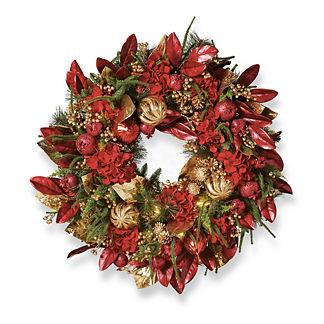 Ruby Metallic Wreath