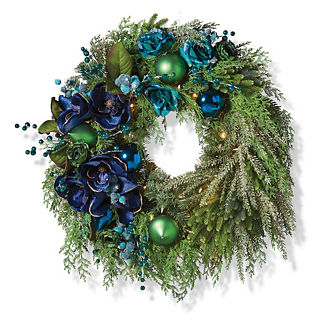Jeweled Peacock Wreath