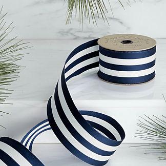 Stripe Navy Ribbon